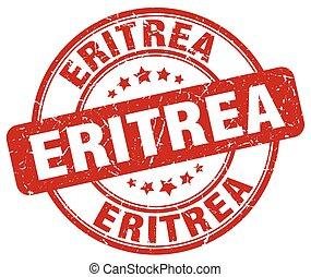Eritrea red grunge round vintage rubber stamp