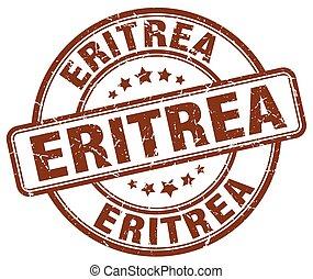 Eritrea brown grunge round vintage rubber stamp