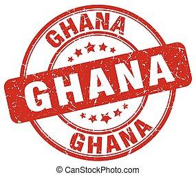 Ghana red grunge round vintage rubber stamp