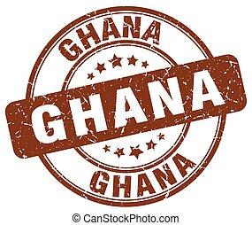 Ghana brown grunge round vintage rubber stamp