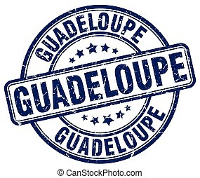 Guadeloupe blue grunge round vintage rubber stamp