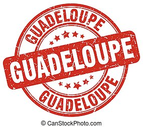 Guadeloupe red grunge round vintage rubber stamp