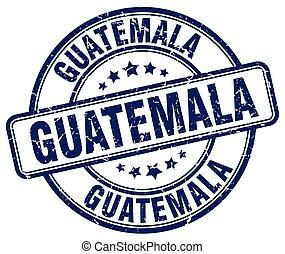 Guatemala blue grunge round vintage rubber stamp