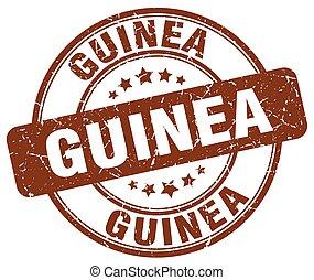 Guinea brown grunge round vintage rubber stamp