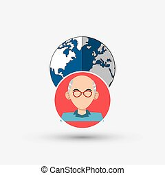Social media design communication icon Isolated illustration...