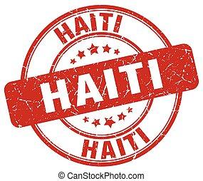 Haiti red grunge round vintage rubber stamp