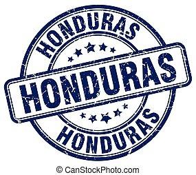 Honduras blue grunge round vintage rubber stamp