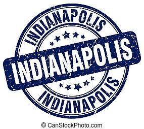 Indianapolis blue grunge round vintage rubber stamp