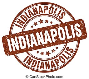 Indianapolis brown grunge round vintage rubber stamp
