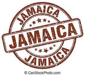 Jamaica brown grunge round vintage rubber stamp