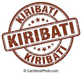 Kiribati brown grunge round vintage rubber stamp