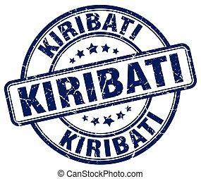 Kiribati blue grunge round vintage rubber stamp