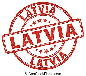 Latvia red grunge round vintage rubber stamp