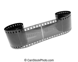 b and w filmstrip - bw filmstrip over white...