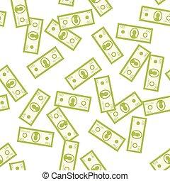 Money seamless vector pattern - Money green seamless vector...