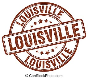 Louisville brown grunge round vintage rubber stamp