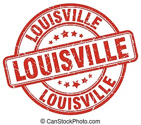 Louisville red grunge round vintage rubber stamp