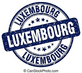 Luxembourg blue grunge round vintage rubber stamp