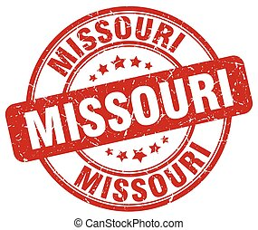 Missouri red grunge round vintage rubber stamp