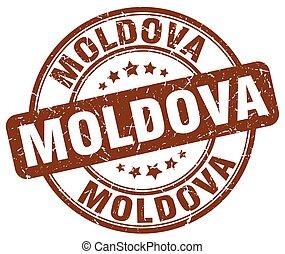 Moldova brown grunge round vintage rubber stamp