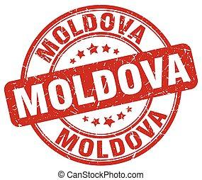 Moldova red grunge round vintage rubber stamp