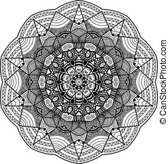 Mandala in zentangle style handdrawn - Mandala in zentangle...