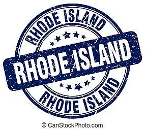 Rhode Island blue grunge round vintage rubber stamp