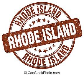 Rhode Island brown grunge round vintage rubber stamp