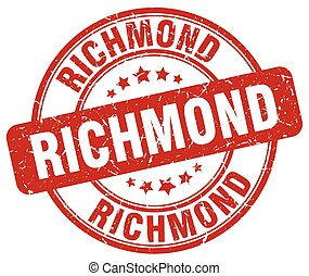 Richmond red grunge round vintage rubber stamp