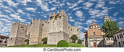 Castello dellImperatore and church Santa Maria delle Carceri...