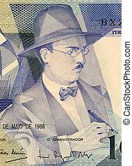 Fernando Pessoa (1888-1935) on 100 Escudos 1988 Banknote...