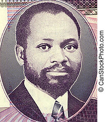 Samora Moises Machel (1933-1986) on 20 Meticais 2006...