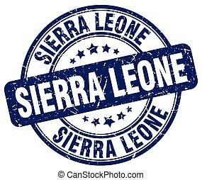 Sierra Leone blue grunge round vintage rubber stamp