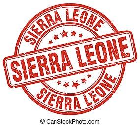 Sierra Leone red grunge round vintage rubber stamp