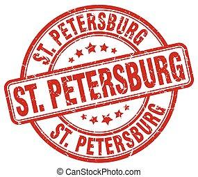 St. Petersburg red grunge round vintage rubber stamp