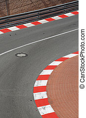 Texture of Motor Race Asphalt and Curb on Monaco GP -...