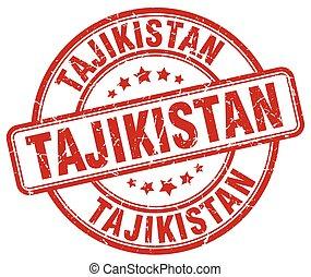 Tajikistan red grunge round vintage rubber stamp