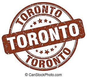Toronto brown grunge round vintage rubber stamp