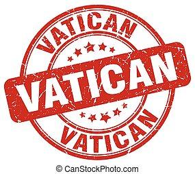 Vatican red grunge round vintage rubber stamp