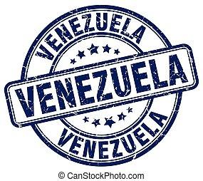 Venezuela blue grunge round vintage rubber stamp
