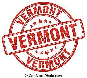 Vermont red grunge round vintage rubber stamp