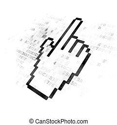 Web design concept: Mouse Cursor on Digital background