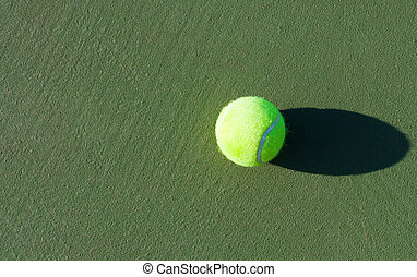 Tennis Championship Tennis ball on the hard surface courts