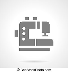 Tailoring glyph style vector icon - Monochrome silhouette of...