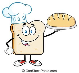 Chef Bread Slice Character
