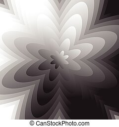 Abstract grayscale, geometric background in square format...