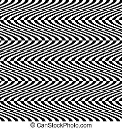 Wavy, billowy seamless pattern Abstract monochrome...