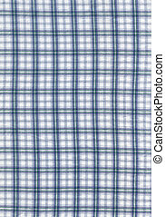 Checked cloth texture - Close-up of a blue checked cloth for...