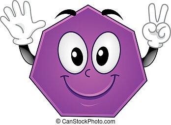 Mascot Polygon Heptagon