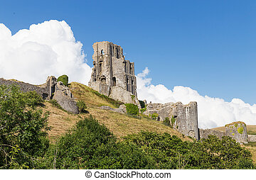 Ancient Corfe Castle, Dorset, United kingdom - Ancient Corfe...